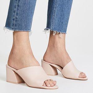 DOLCE VITA Juels Blush Leather Heel Mules Slides